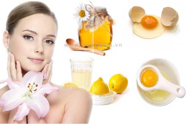 Dưỡng da trắng sáng sử dụng trứng gà kết hợp các nguyên liệu tự nhiên