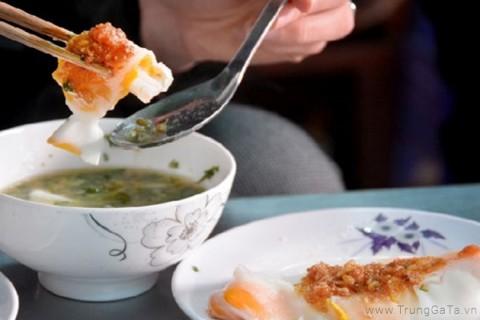 Bánh cuốn Lạng Sơn với trứng gà ta siêu ngon